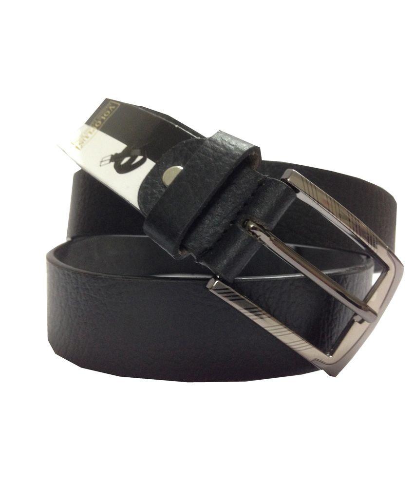 Orange Black Casual Belt