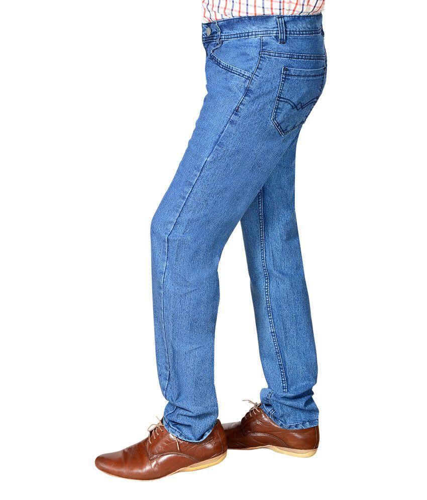 ab0e6031244 Flyjohn Trendy Light Blue Cotton Denim Jeans - Buy Flyjohn Trendy ...