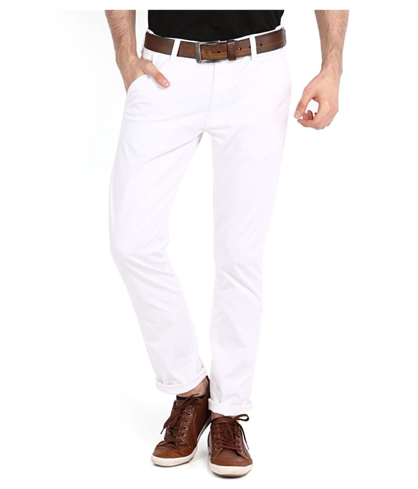 Highlander White Slim Casuals