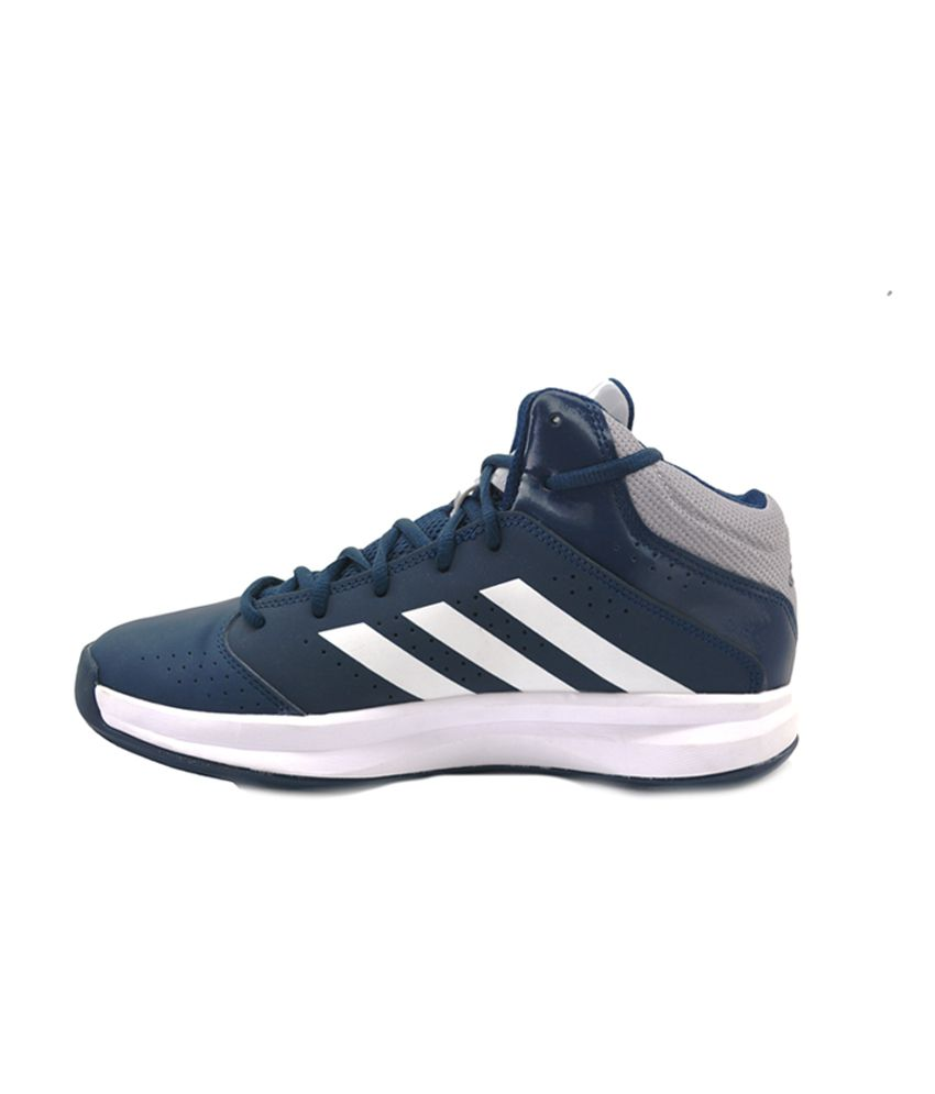 8cefa014103d Adidas Blue Synthetic Leather Basketball Sports Shoes For Men - Buy ...