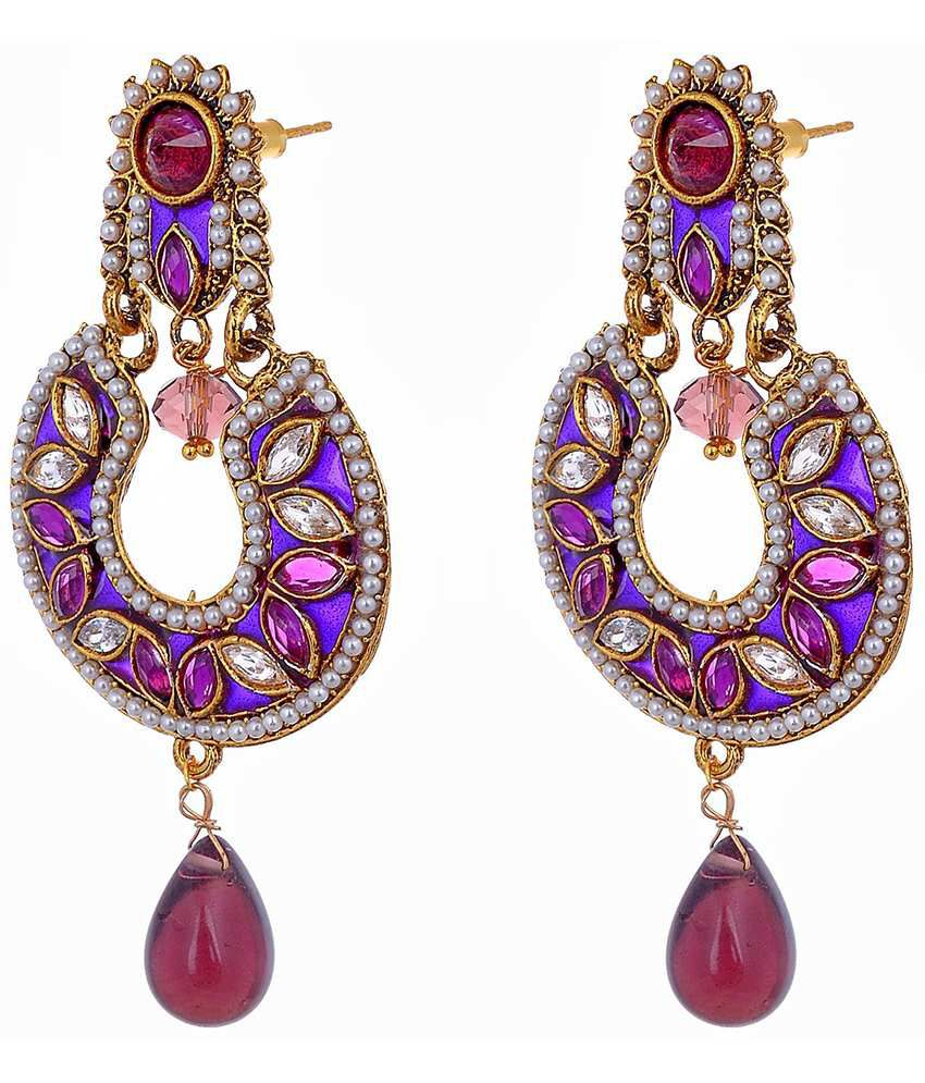 Aditri Classy Purple Hanging Earrings