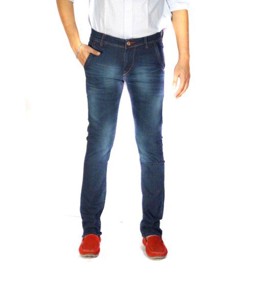 Knox Artiste Blue Cotton Skinny Fit Denim Jeans