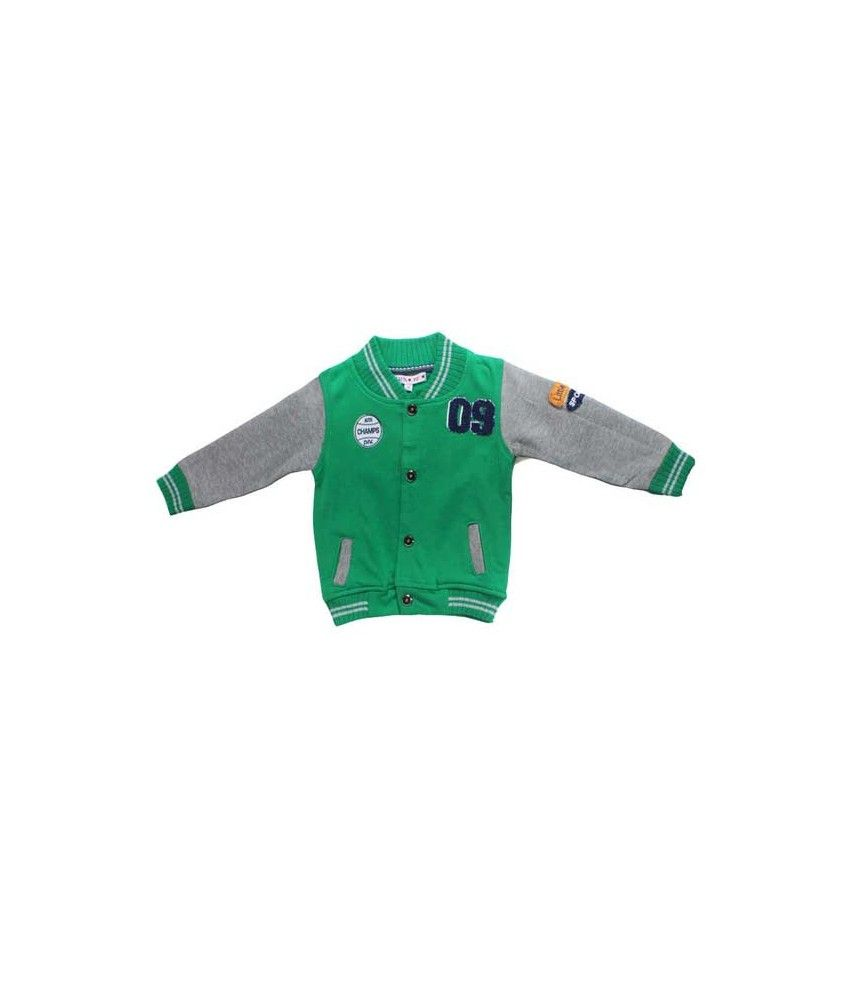 Little Dove Full Sleeve Green Color Sweatshirt For Kids