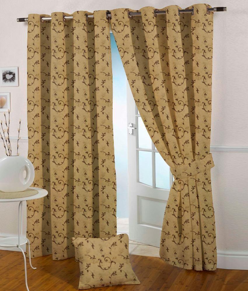 Presto Single Door Eyelet Curtain Contemporary Brown
