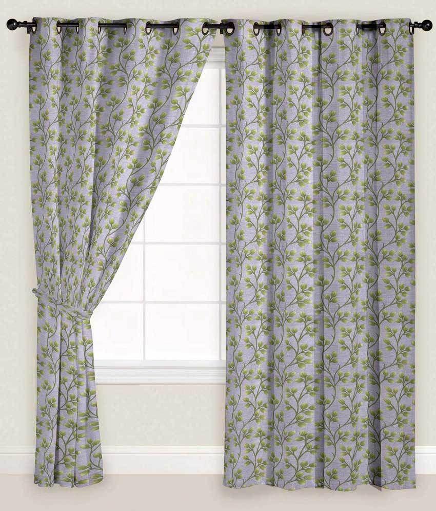 Presto Single Door Eyelet Curtain Floral Green