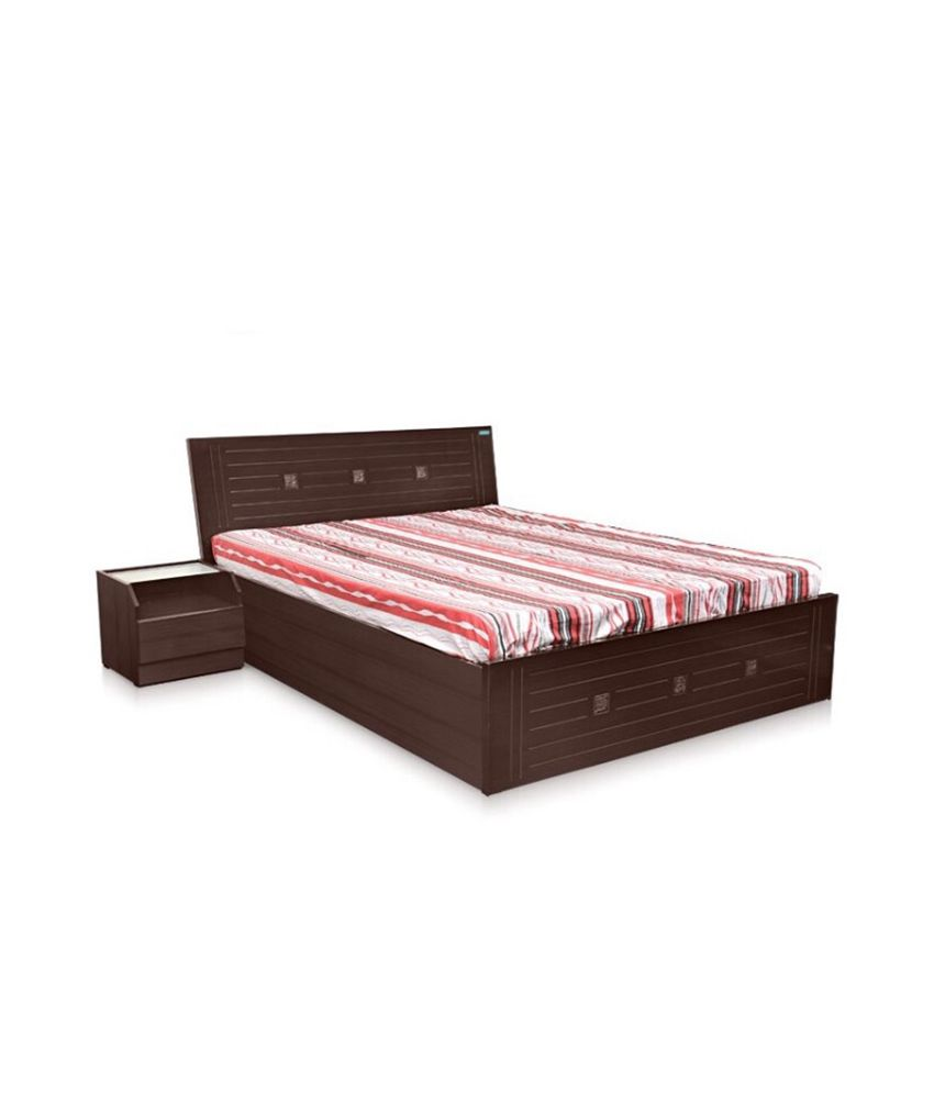 zorin brown double bed buy zorin brown double bed online at best
