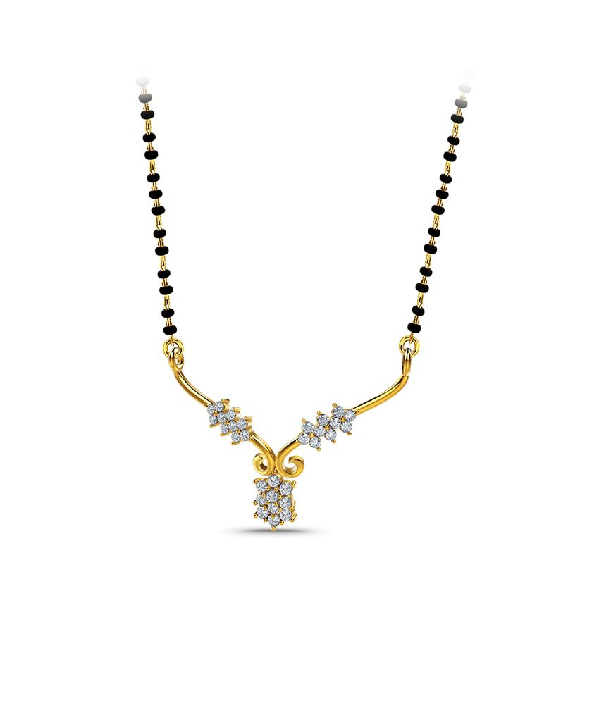 Naayab Diamond Enigma Contemporary Gold 18kt Hallmarked Mangalsutra Without Chain