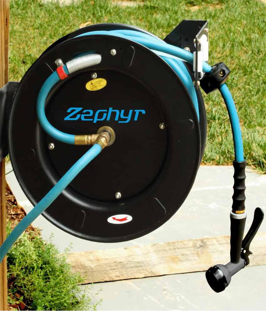 Zephyr 12 X 50Ft Retractable Rubber WaterGarden Hose Reel Buy