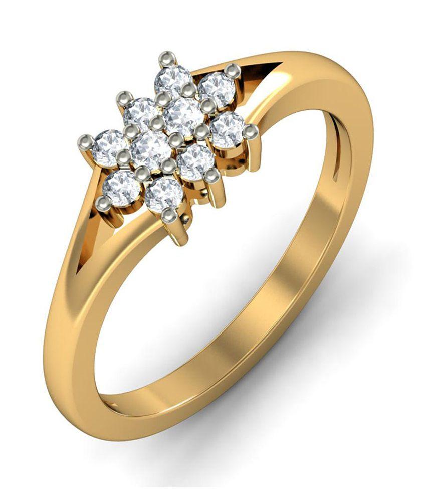 Jacknjewel Hallmark 18kt Gold Certified Real Diamond Ring