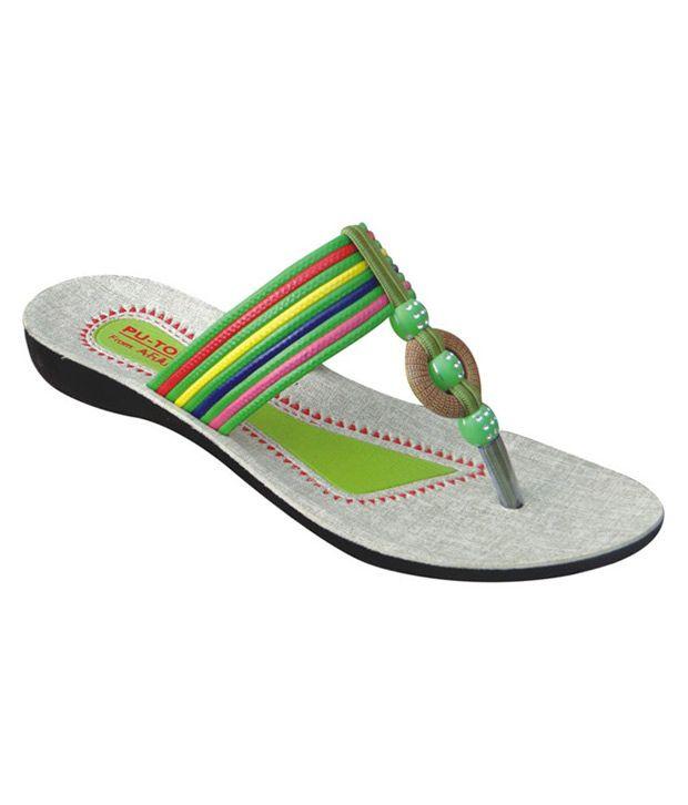 A-future Multicolour Daily Wear Flats