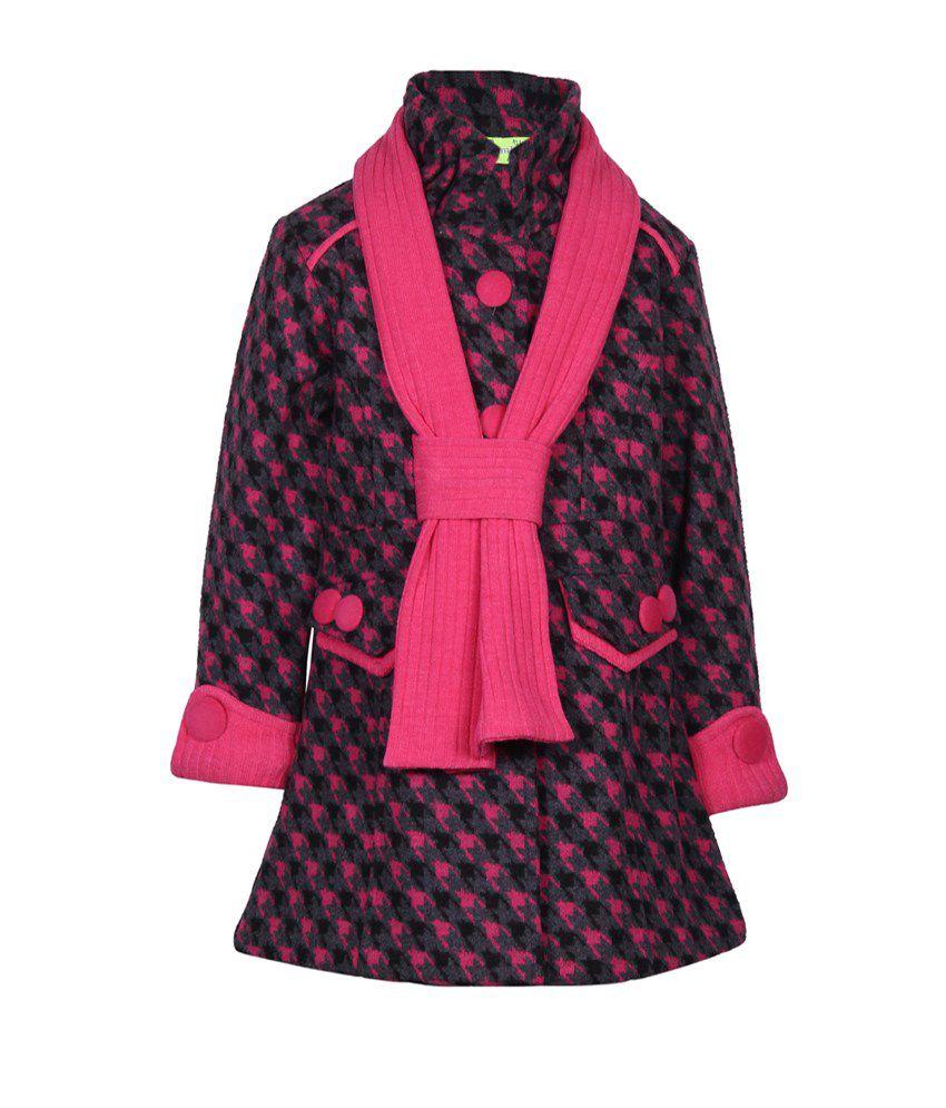 Cutecumber Pink Mesh Full Sleeve Jacket