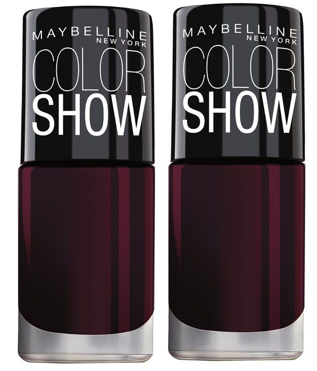 Maybelline Colour Show Bright Sparks Maroon Nail Polish pack Of 2 ...