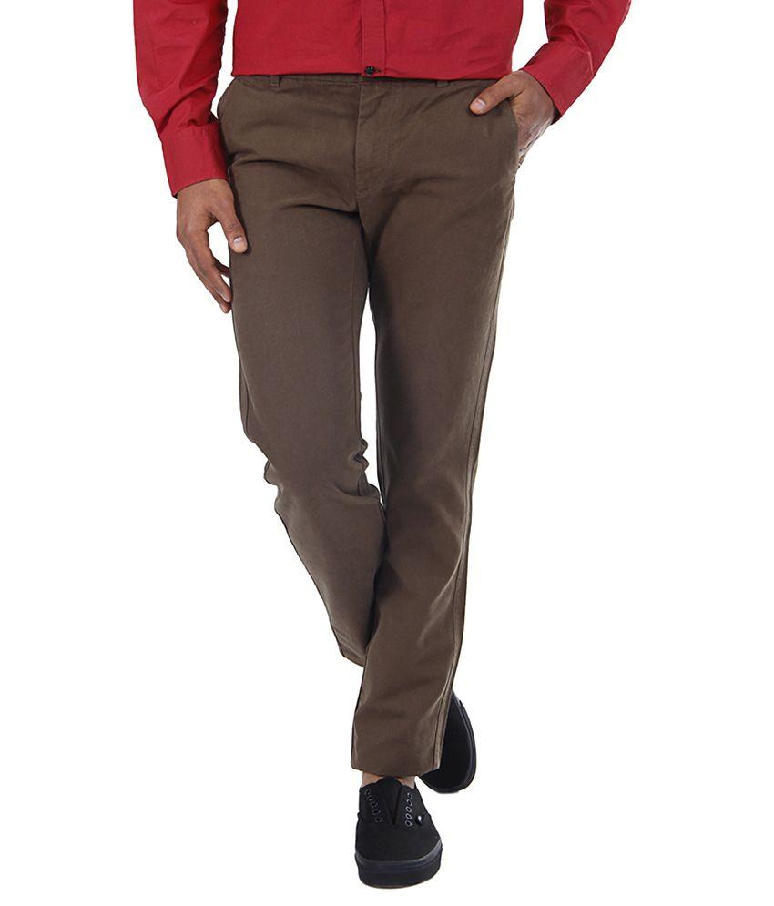 Indian Terrain Brown Regular Formals
