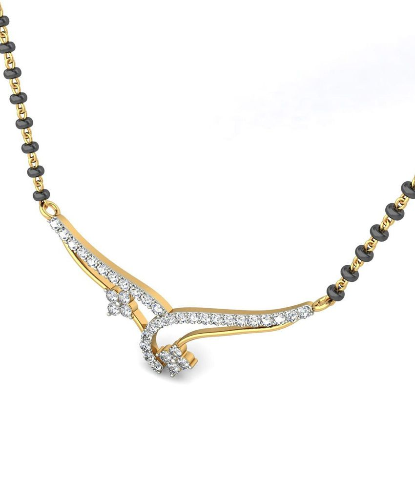 Jewelsnext 18kt Gold Diamond Managalsutra Without Chain