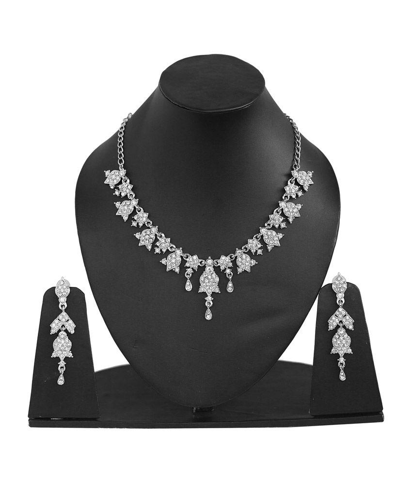 Touchstone Fabulous Silver Necklace Set
