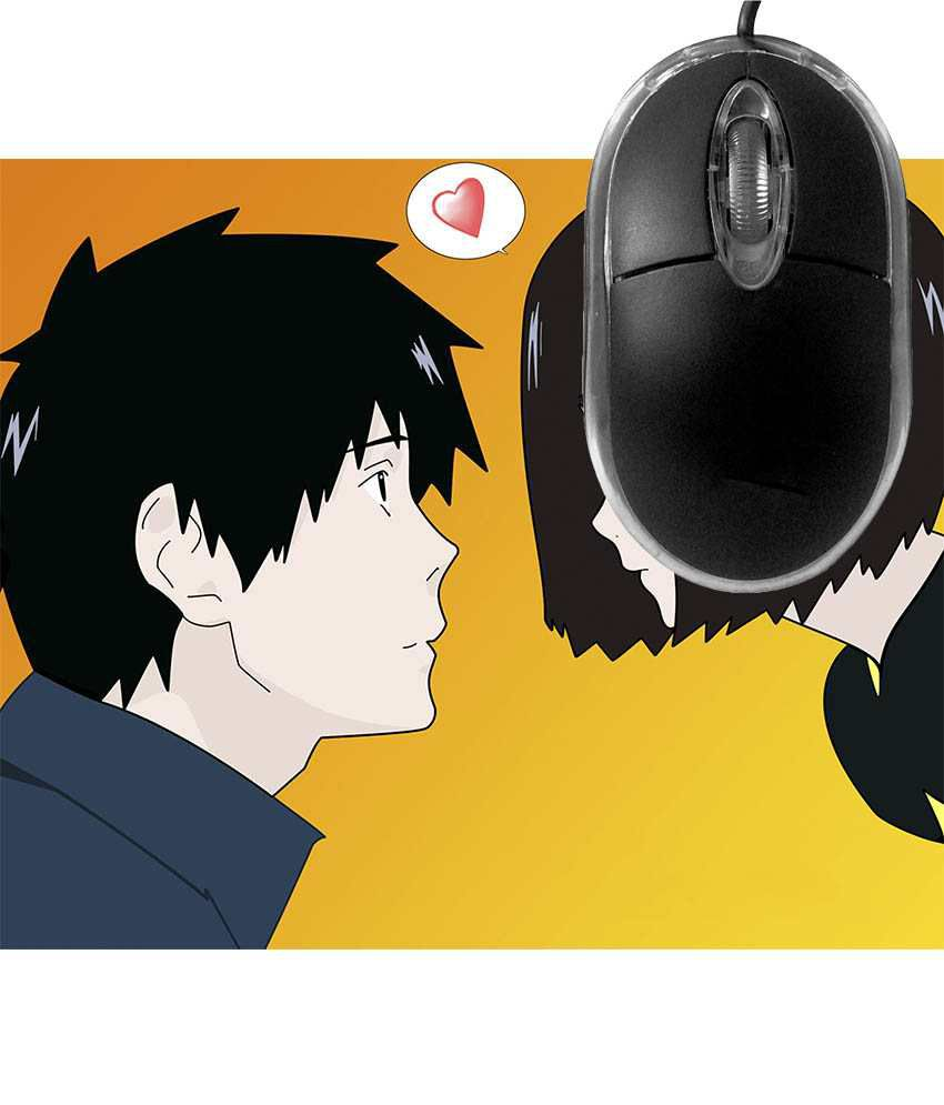 FineArts Love Anime Mousepad with Terabyte 3D Optical USB Mouse