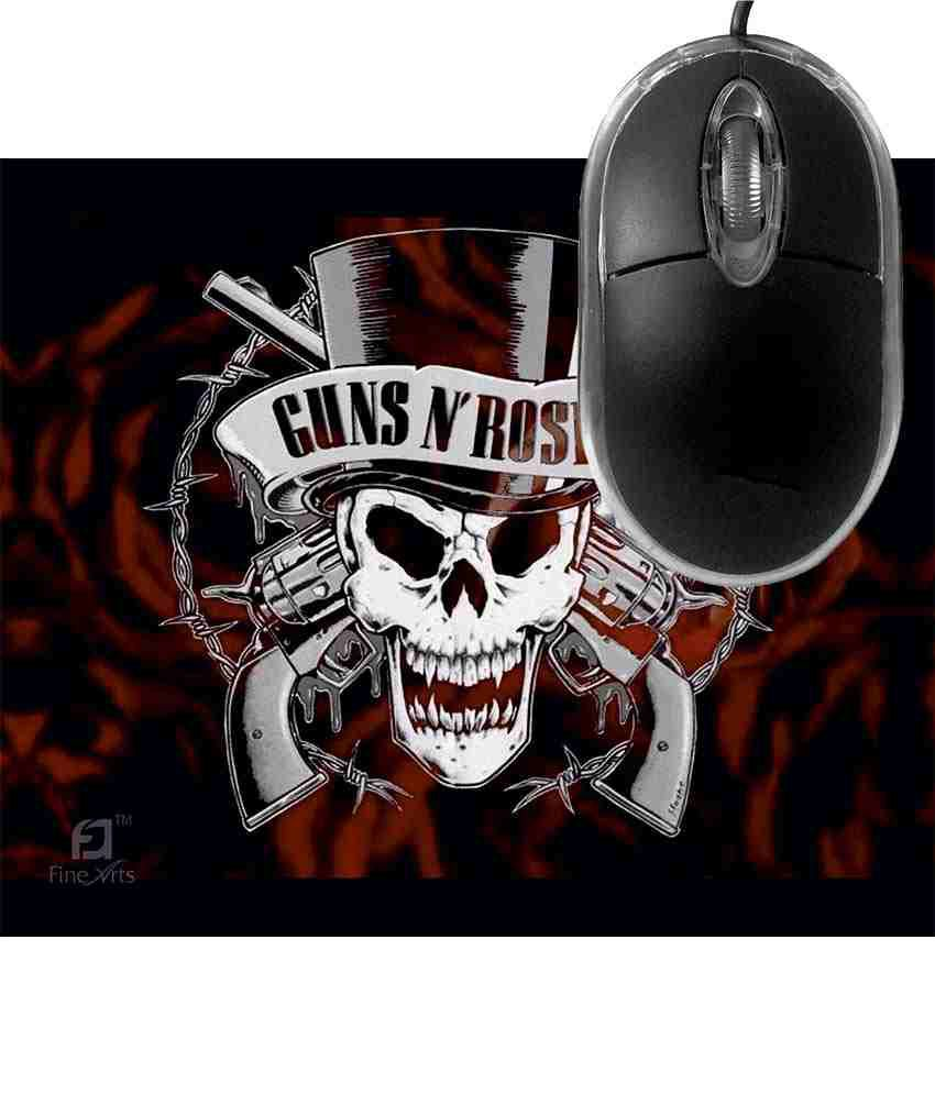 FineArts Guns N Roses Mousepad with Terabyte 3D Optical USB Mouse