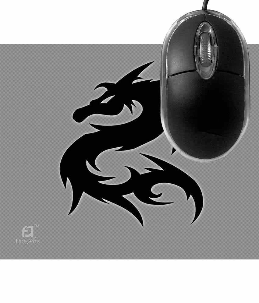 FineArts Dragon Mousepad with Terabyte 3D Optical USB Mouse
