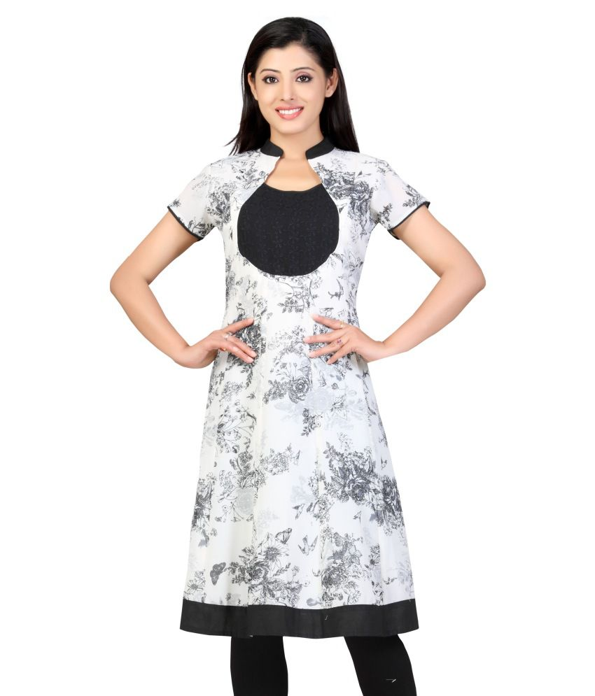 Lifestyle Lifestyle Retail Pure Georgette Kurti (White)