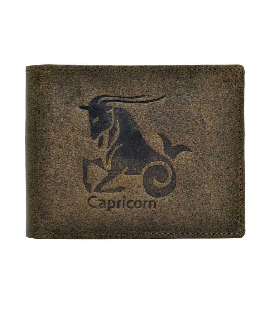 Hawai Zodiac Capricorn Embossed Wallet For Men
