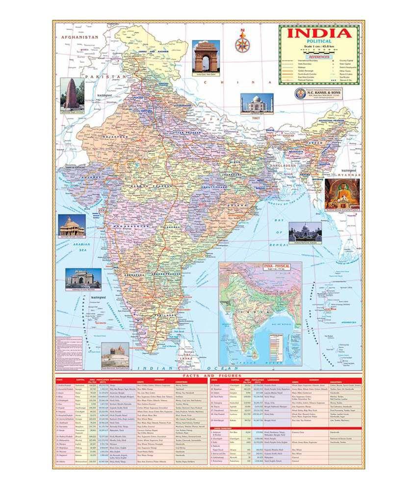 Teachingnest india political map telangana included buy online at teachingnest india political map telangana included gumiabroncs Gallery