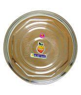 Mango Steel Silver Stainless Steel 12 Star Dinnner Plate - Set Of 6 Pcs