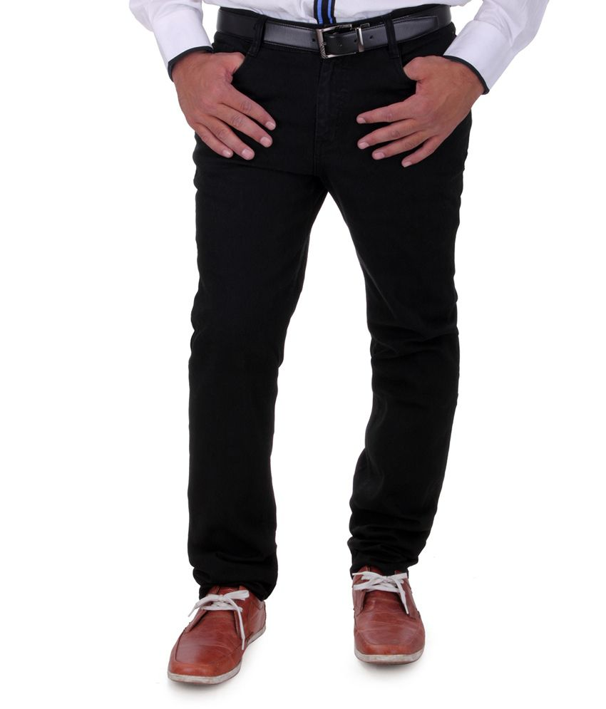 Cobb Black Cotton Men Jeans