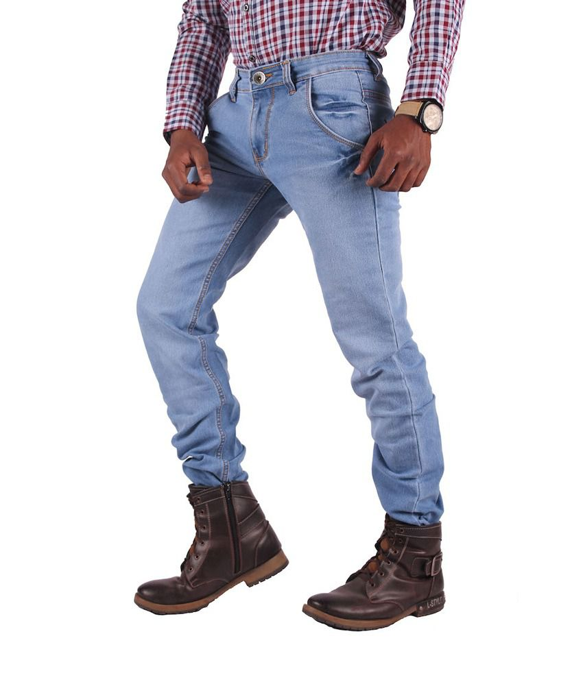 Gasconade Fashionable Blue Slim Fitted Jeans