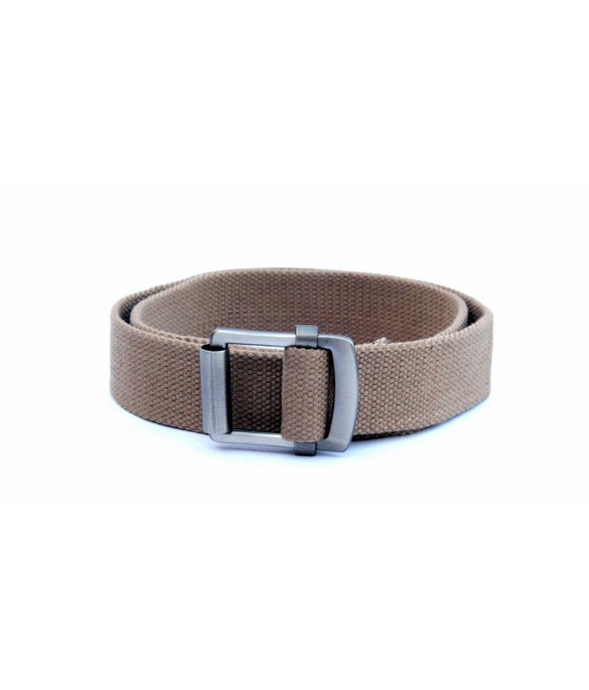 IMP Beige Autolock Buckle Canvas Belts ForMen