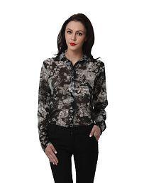 Purys Black Polyester Shirts