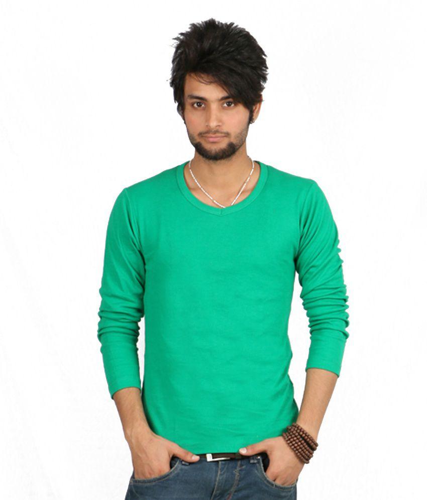 Emerge Green Full Sleeves T Shirt