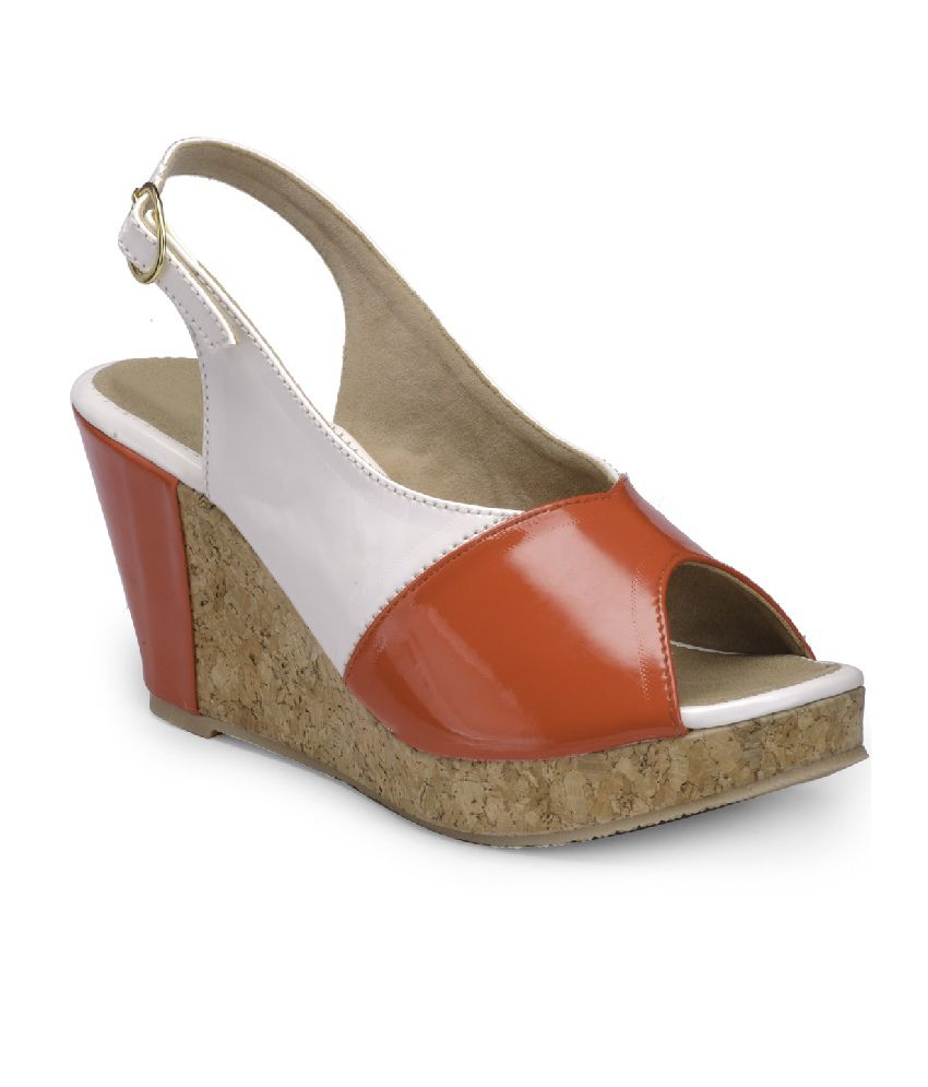 Nell Red Wedges Sandals