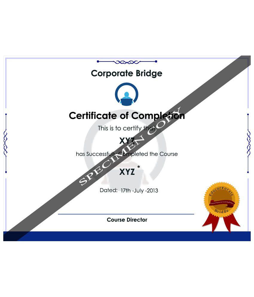 CFA Level I Prepare With Plete Preparatory Course E Certificate