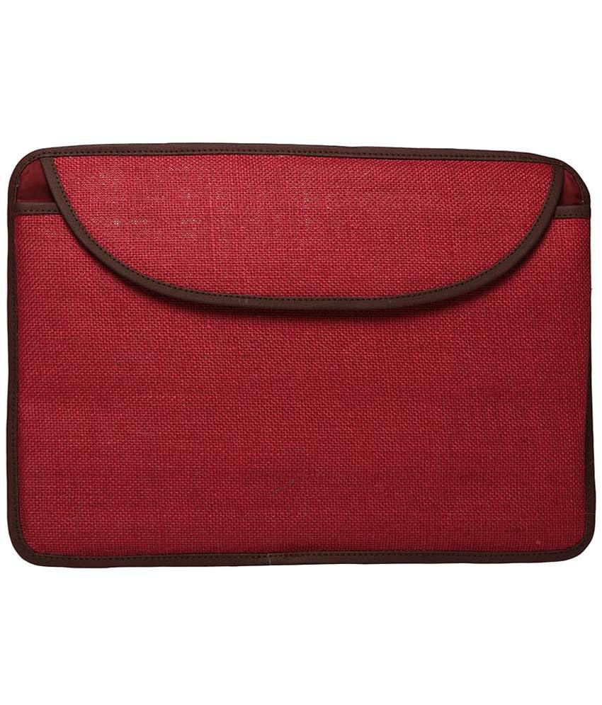 Campus Sutra Maroon Laptop Sleeve