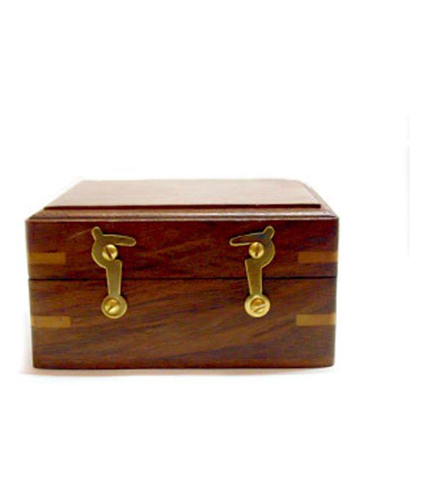 Miraj Products Brown Buyaddiction Antique Handicraft Wooden Box