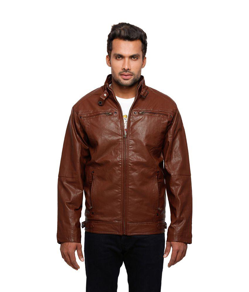 Status Quo Brown Pu Leather Full Sleeves Men Leather Jacket - Buy ...