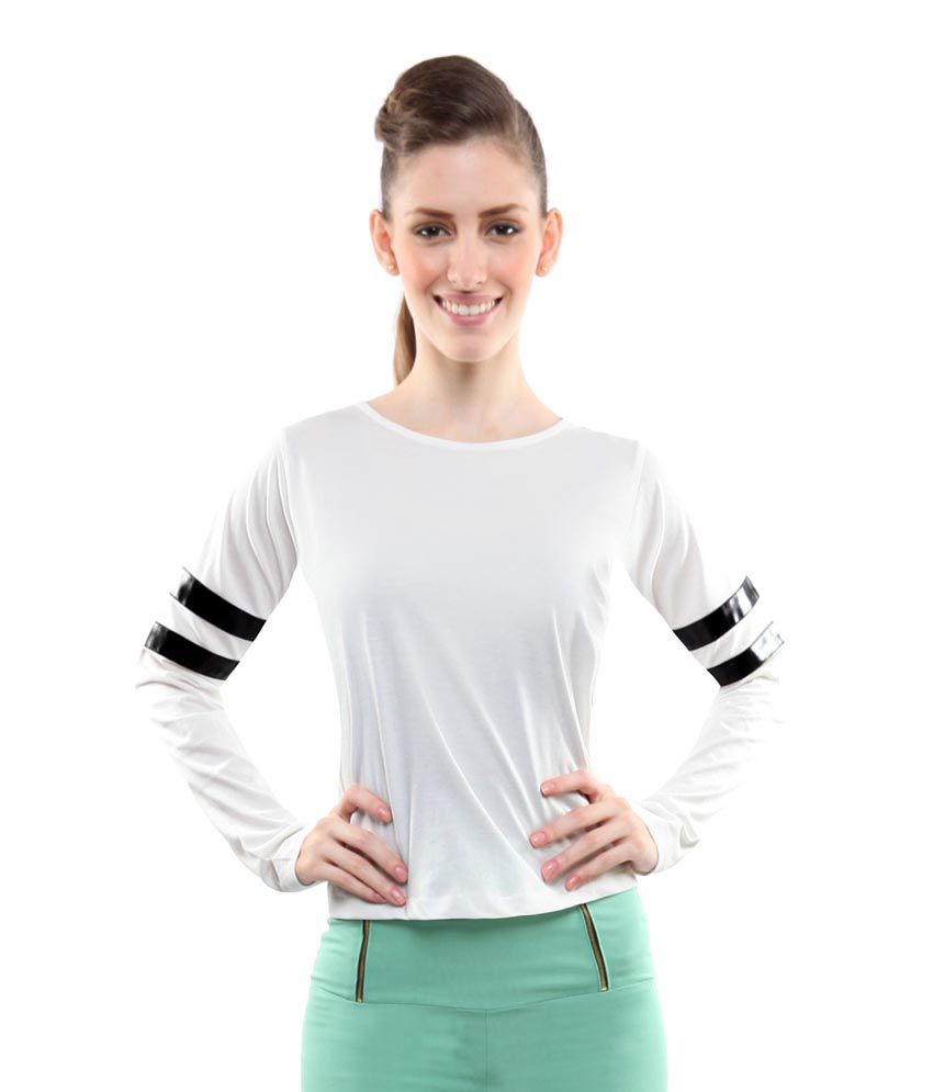 739f6c84 Miss Chase White Tops For Women Full Sleeve Round Neck Casual Wear - Buy  Miss Chase White Tops For Women Full Sleeve Round Neck Casual Wear Online  at Best ...