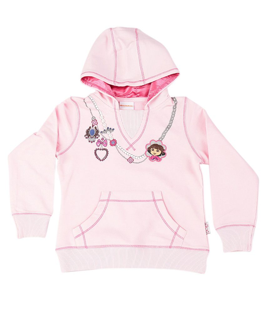 Dora Rose Pink Graphic Cotton Sweatshirt