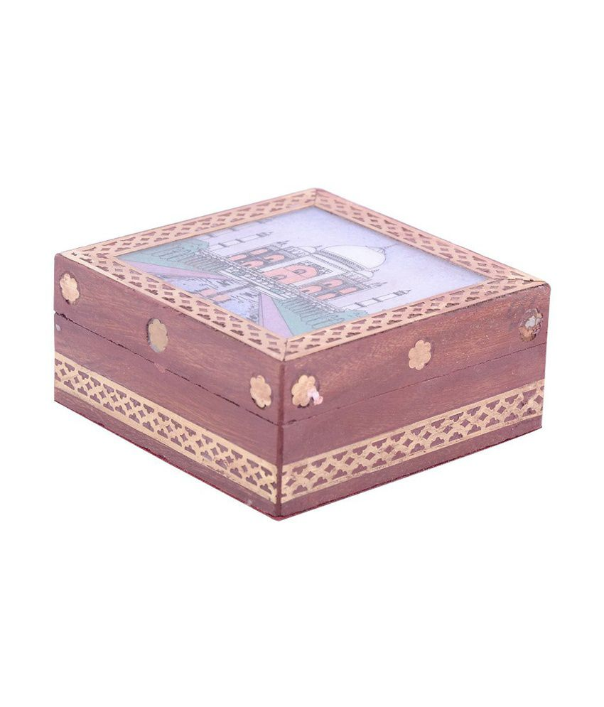 Sheela's Wooden Gemstone With Beautiful Paintings Jewellery Box Code No:sh935