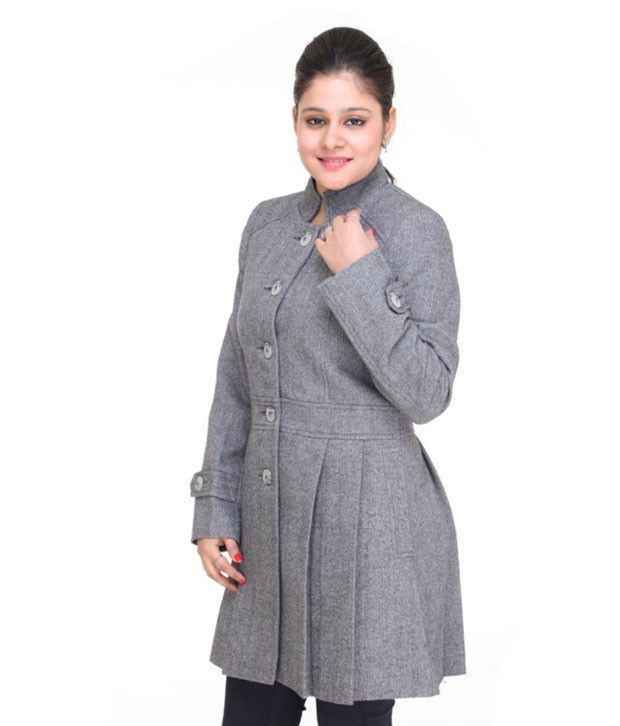 Buy Trufit Gray Tweed Coats Online at Best Prices in India - Snapdeal