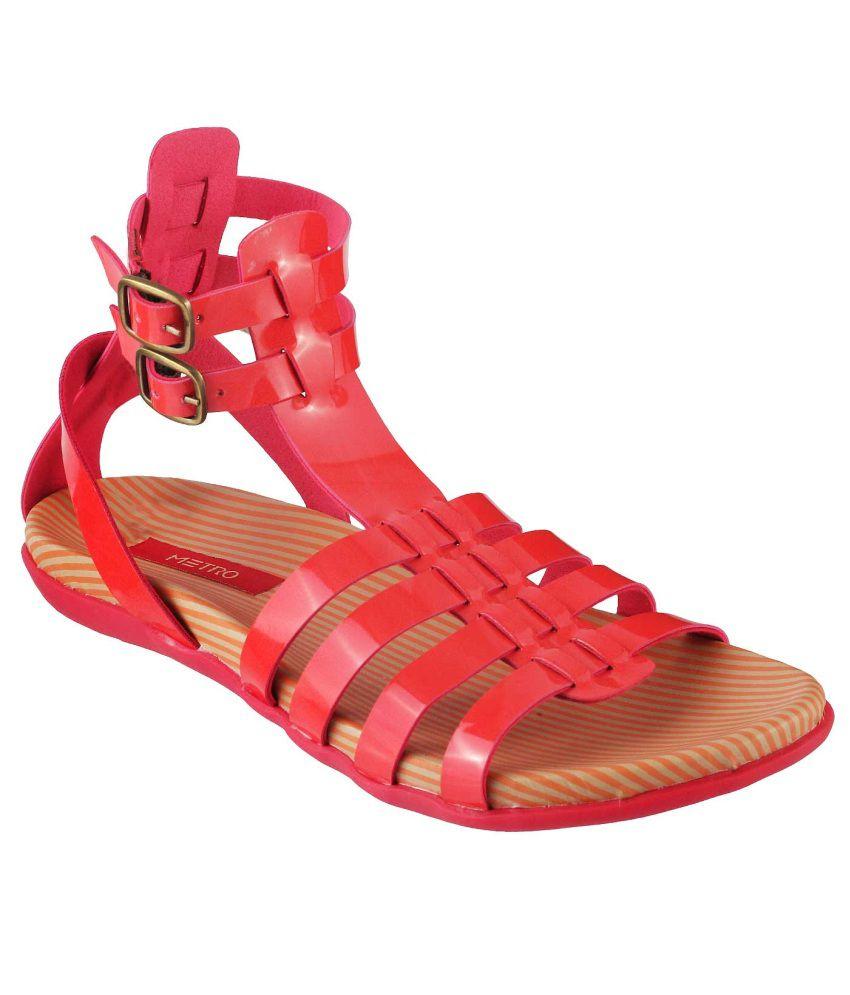 Metro Red Sandal