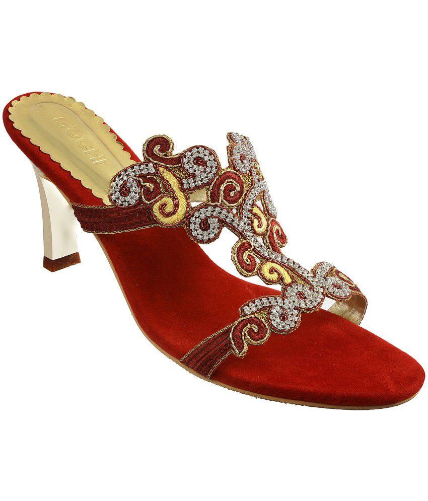 Mochi Red Heeled Slip-on