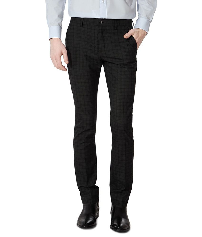Van Heusen Black Regular Formals
