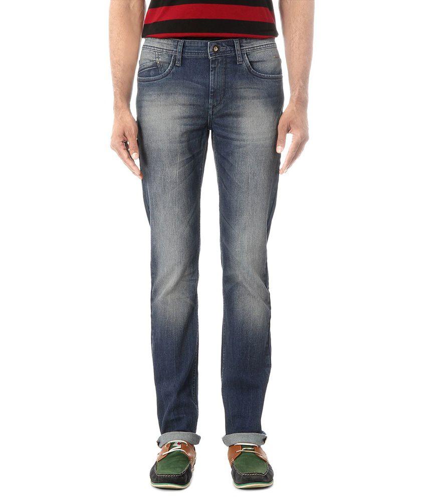 Van Heusen Blue Super Skinny Jeans