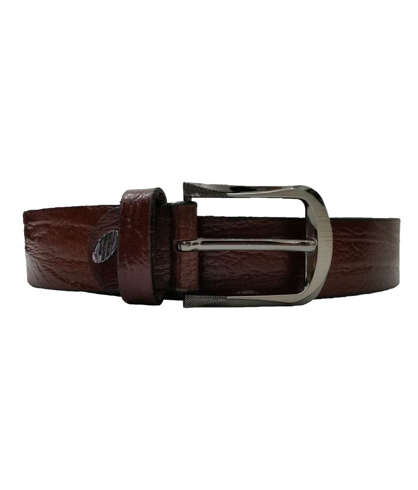 Verceys Brown Leather Pin Buckle Casual Belt For Men