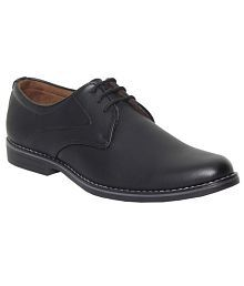 Leeport Black Synthetic Leather Formal Shoes