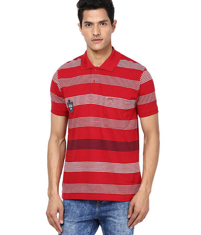 Cloak & Decker by Monte Carlo Red Cotton Blend T-shirt