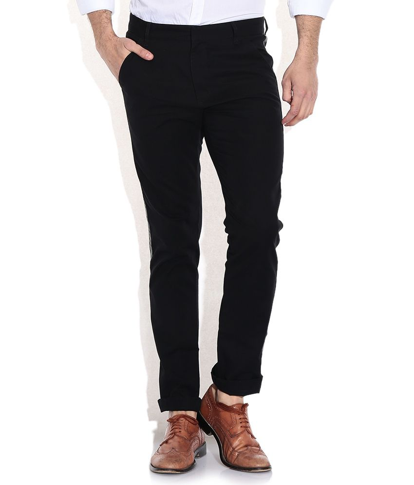 United Colors Of Benetton Black Slim Fit Chinos