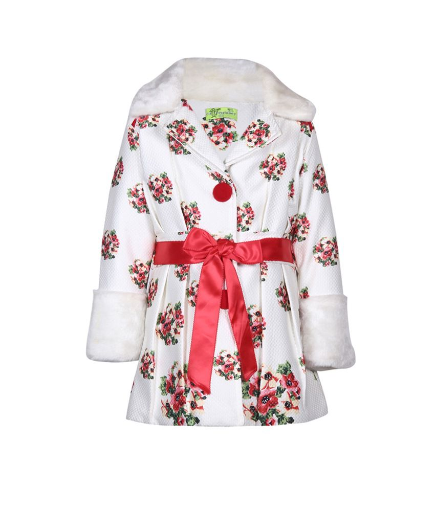 Cutecumber Red Without Hoods Girls Winter Embellished Jacket