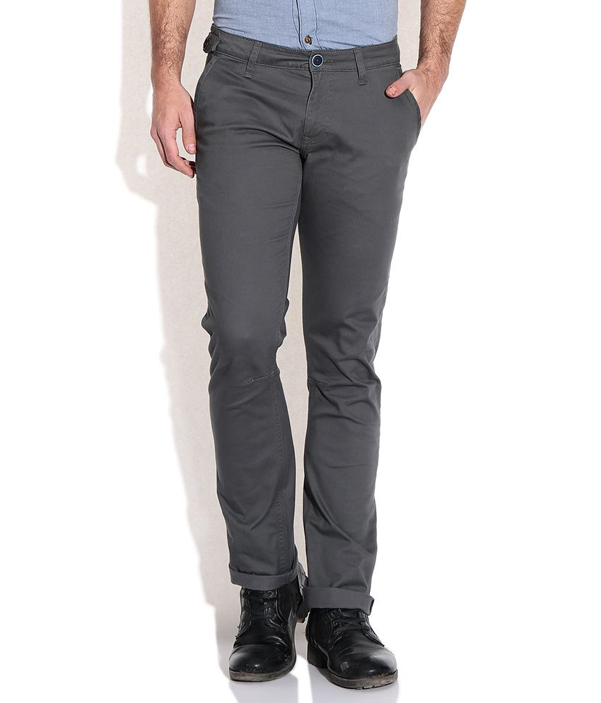United Colors Of Benetton Gray Slim Fit Chinos